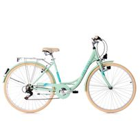 KS CYCLING - Vélo de ville dame 28'' Cantaloupe vert menthe TC 49 cm Dacapo
