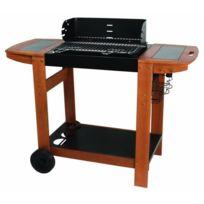 Somagic - Barbecue a charbon de bois Meltem 122x56.5x98.5cm - Noir