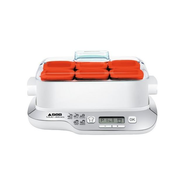 SEB Yaourtière Multi Délices Express Compact - YG660100 - Blanc/Rouge