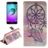 Wewoo - Housse Étui pour Samsung Galaxy A3 2016 / A310 Esthétique Windbell Pattern Horizontal en cuir avec porte-cartes & Slots & Wallet