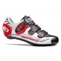 Sidi - Genius 7 Blanche Et Rouge Chaussures Vélo route