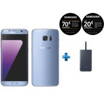 Samsung - Galaxy S7 Edge Bleu + Fast Charge Battery Pack 5100mAh - Bleu marine