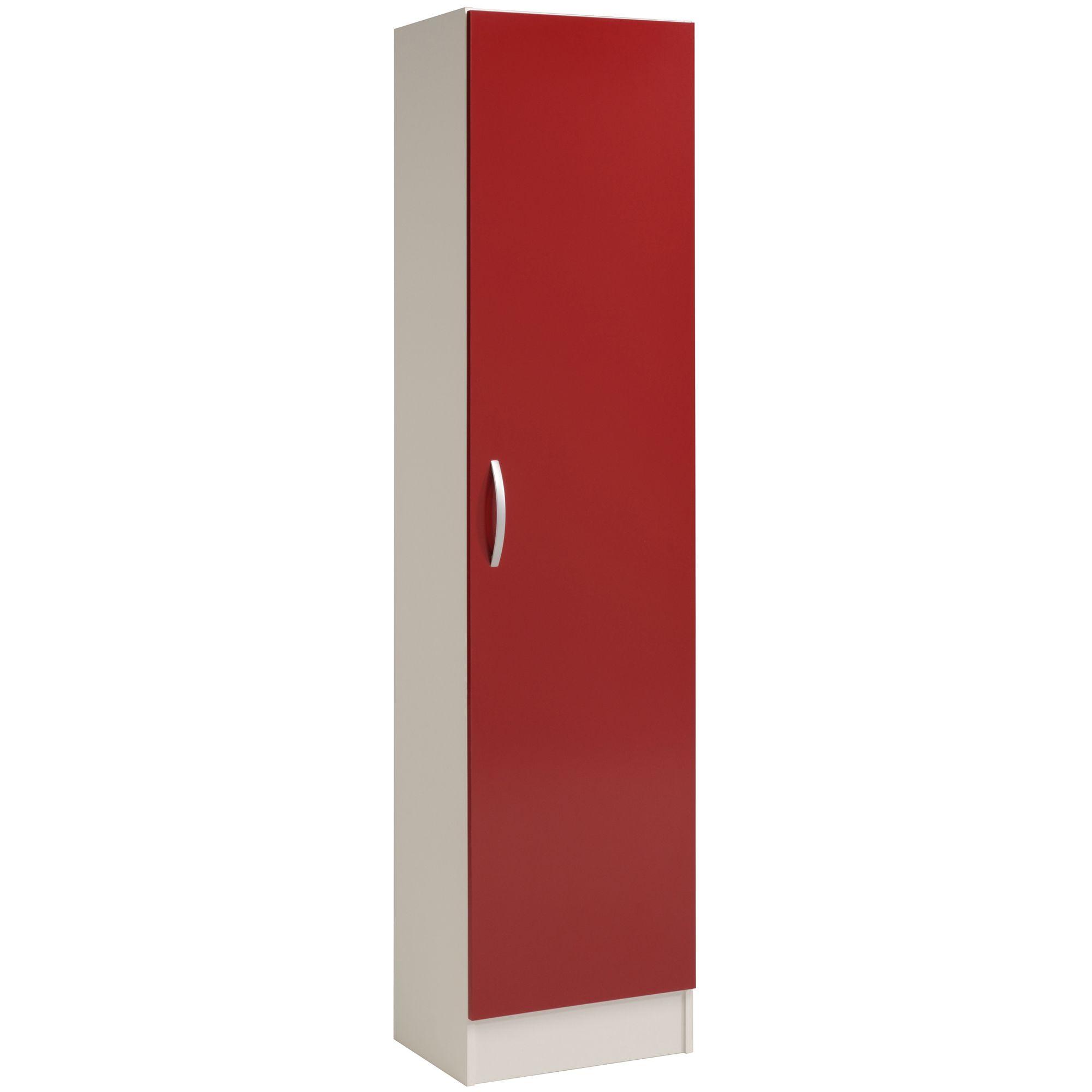 alin a eko cuisine colonne de cuisine tag res h208cm rouge pas cher. Black Bedroom Furniture Sets. Home Design Ideas
