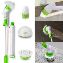 idmarket balai sans fil 3 brosses rotatives interchangeables - Balai Brosse Rotative Electrique
