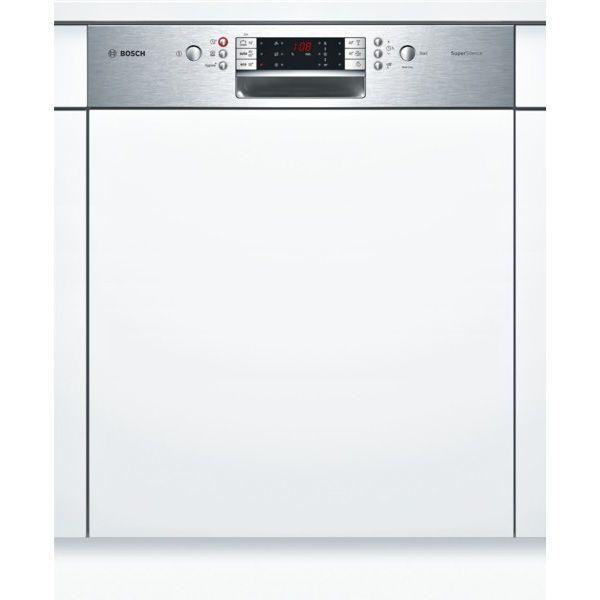 Bosch lave-vaisselle 60cm 14 couverts a+++ zéolite intégrable avec bandeau apparent inox - smi69n75eu