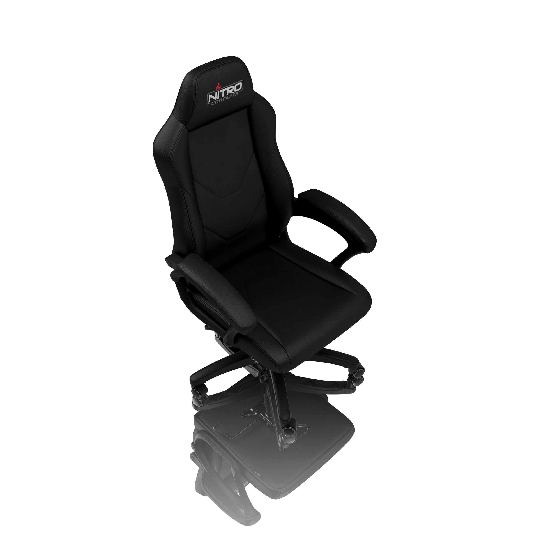 Chaise de jeu Nitro Concepts C100 en cuir noir