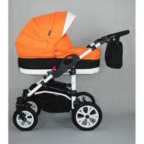 Autre - Poussette trio Aston 2015 orange avec base isofix 1 siège auto isofix+ 1 base