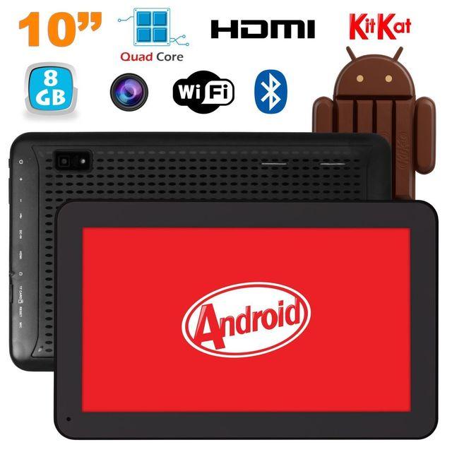 Yonis Tablette 10 pouces Android KitKat Bluetooth Quad Core 8Go Noir