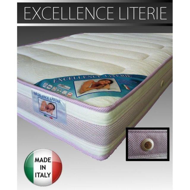 Inside 75 Matelas Excellence Literie longueur couchage 190 cm épaisseur 18 cm