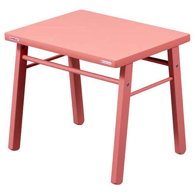 Combelle - Table Enfant - laqué rose 40cm x 50cm