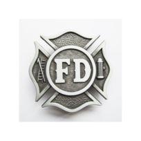 Universel - Boucle de ceinture pompier blason rouge americain homme ... 785c27cdb03
