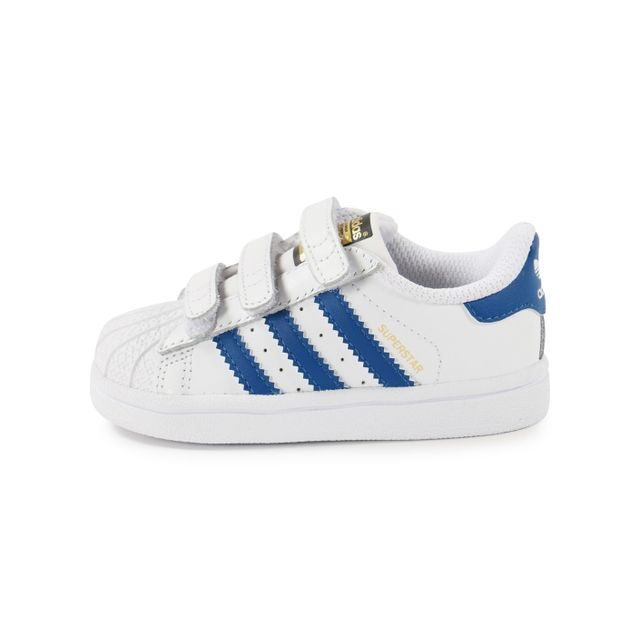 low priced 420c7 bdc65 Adidas - Superstar Foundation Bébé Blanche Et Bleue
