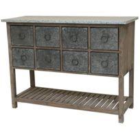 chemin de campagne console meuble table bahut casier bois zinc