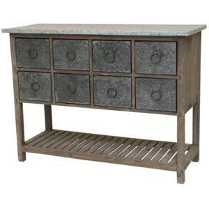 top chemin de campagne console meuble table bahut casier bois zinc marron cm x with console. Black Bedroom Furniture Sets. Home Design Ideas