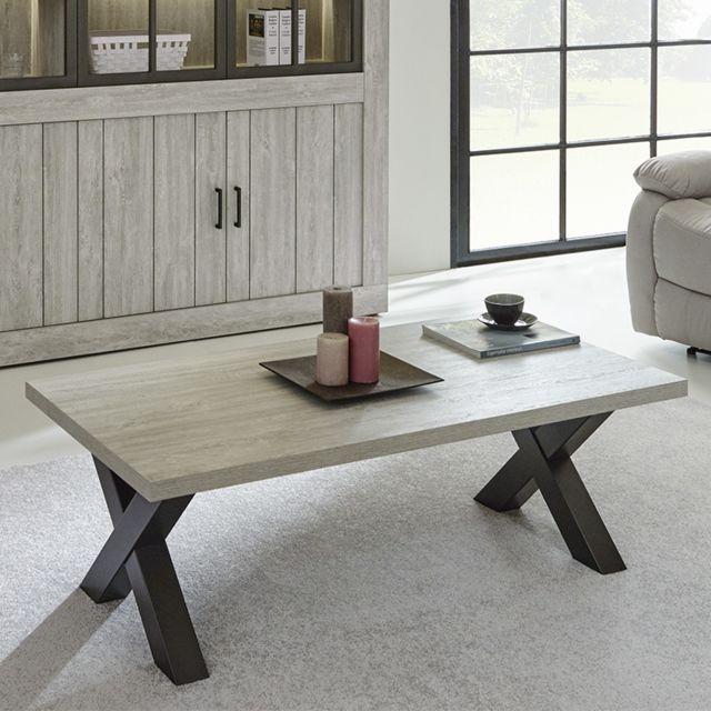 Kasalinea Table basse couleur bois Meredith