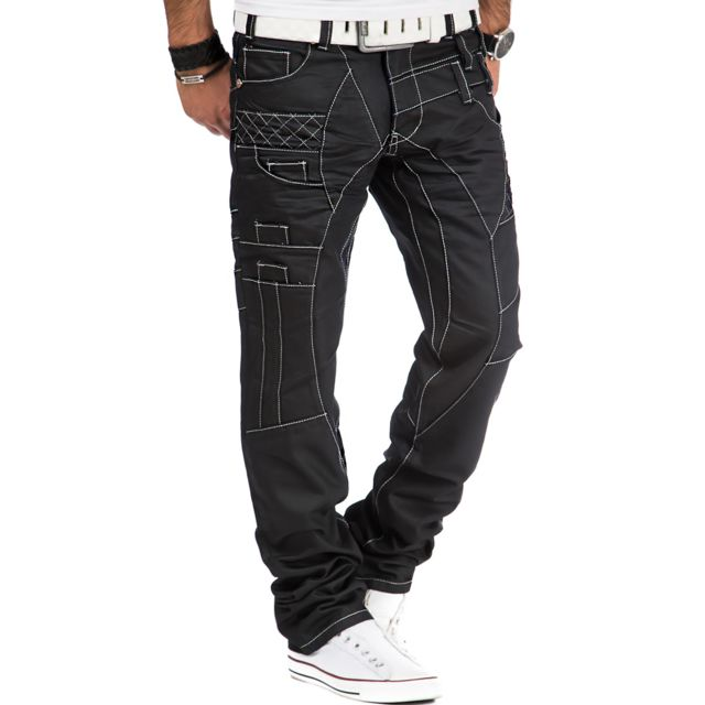Kosmo Lupo - Jean fashion Jean homme 040 noir - pas cher Achat   Vente Jeans  homme - RueDuCommerce 7c0376c7d82