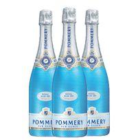 Champagne Pommery - Royal Blue Sky Lot de 3 Bouteilles