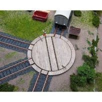 Faller - Modélisme ferroviaire Ho : Petite plaque tournante pour wagon avec servocommande