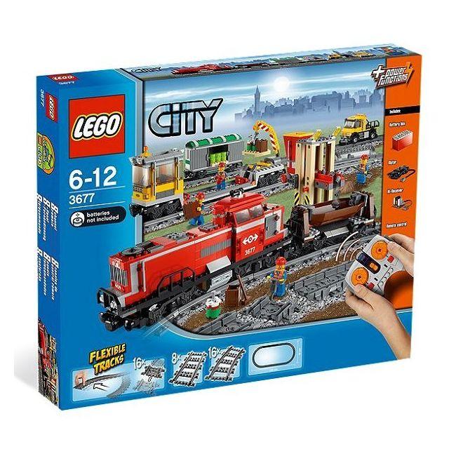 Lego - 3677 - City : Train de marchandises rouge