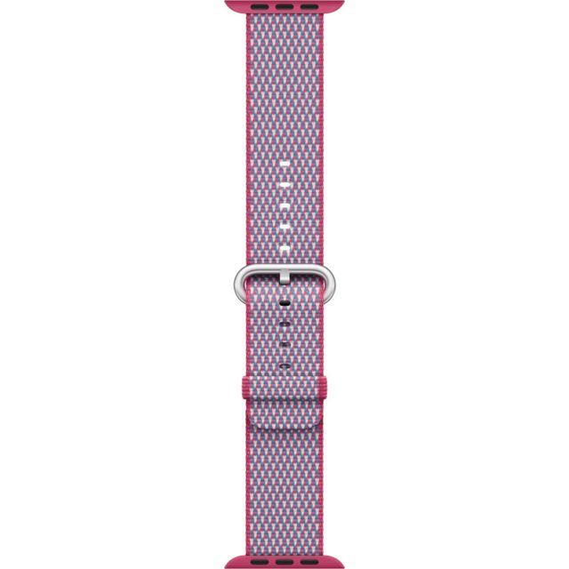 APPLE Bracelet en nylon tissé quadrillé fruits rouges 38 mm Bracelet en nylon tissé pour AppleWatch - Fermoir à boucle - Compatible avec boîtier 38mm