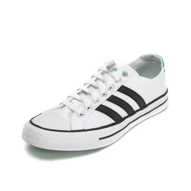 taille 40 b67ca cb520 Baskets Homme Vlneo 3 Stripes Basse Neo label White black green