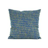 Present Time - Coussin 100% coton déhoussable motif losange Tuned Mesh - Bleu | Vert - 45x45cm