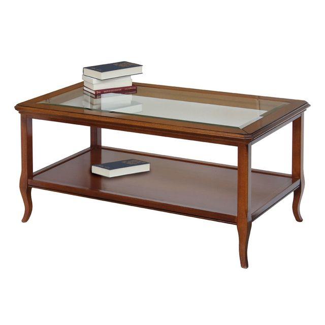 Artigiani Veneti Riuniti Table basse classique plateau en cristal
