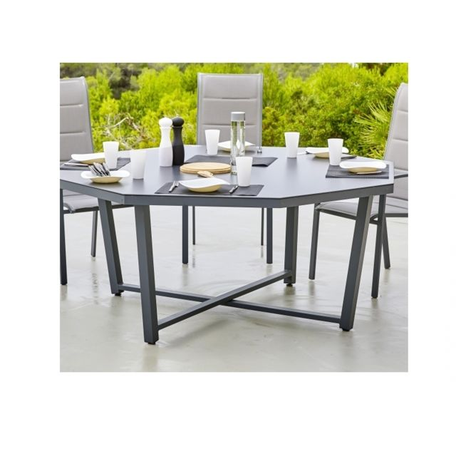 HYBA - Ensemble Table CANBERRA Octogonale + 8 fauteuils ...