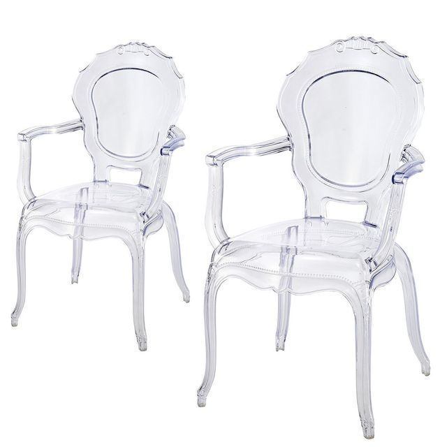 Meubler Design Lot De 2 Fauteuil Polycarbonate - Transparent