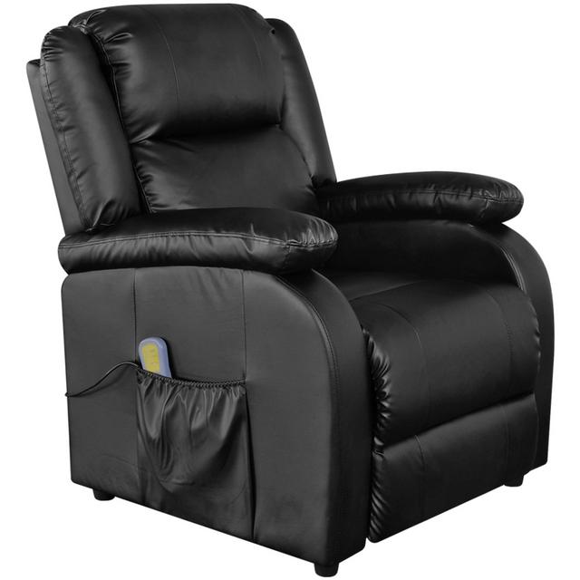 Vidaxl Fauteuil électrique De Massage En Cuir Artificiel Noir