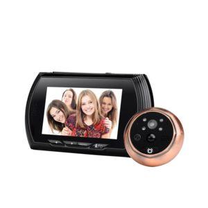 auto hightech sonnette camera visiophone oeilleton de porte ecran lcd 4 3 pouces 720p 140. Black Bedroom Furniture Sets. Home Design Ideas