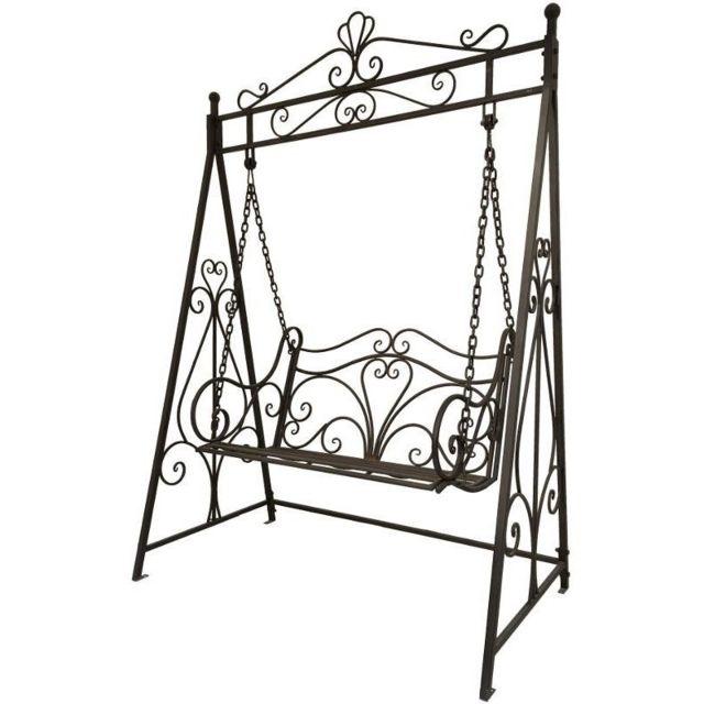 chemin de campagne balan oire balancelle banc de jardin en fer 2 places pas cher achat. Black Bedroom Furniture Sets. Home Design Ideas