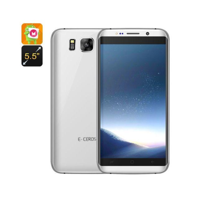 Auto-hightech Smartphone Edge - Cpu Quad-Core, 3G, Dual-IMEI, Android 6.0, écran de 5,5 pouces, Google Play