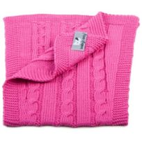 Baby's Only - Bavoir D'ÉPAULE, Collection Cable - Fuchsia