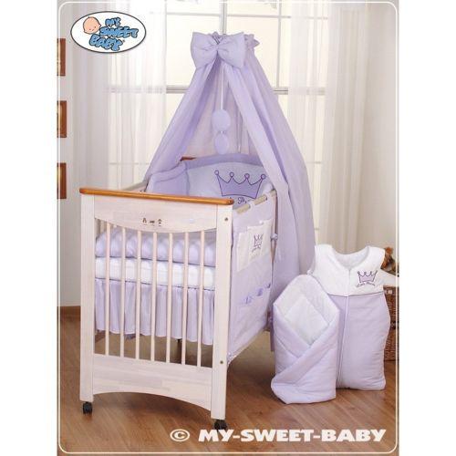 marque generique parure de lit b b prince ou princesse violet ciel de lit coton 120 60 pas. Black Bedroom Furniture Sets. Home Design Ideas