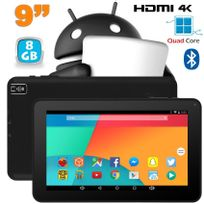 Yonis - Tablette 9 pouces Android 6.0 Tactile Hdmi 4K 1,5GHz 1Go Ram Noir 8Go