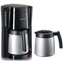 SEVERIN - cafetière isotherme 2 verseuses 8-12 tasses 800w inox - ka9482