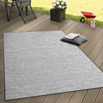 Paco-home - Intérieur & Extérieur Tissage À Plat Tapis Terrasses Tapis Avec Dégradé De Couleurs En Gris 60X100