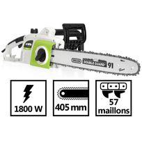 """Vito Garden - Tronçonneuse 1800W électrique Guide Oregon lame 405mm - 57 maillons - pas 3/8"""" - frein auto - réglage de la tension de chaîne"""
