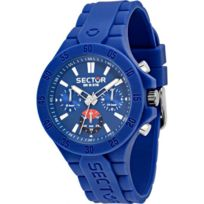 Sector Montres - Montre Sector Steeltouch R3251586002 - Montre Multifonction Bleue Homme