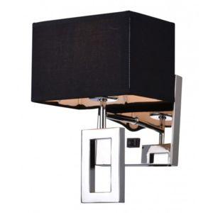 kosilum applique murale noire design m tal tissu noir. Black Bedroom Furniture Sets. Home Design Ideas