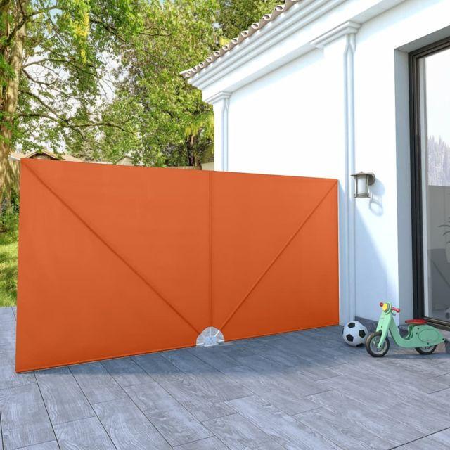 Vidaxl Auvent latéral pliable de terrasse Terre cuite 400 x 200 cm