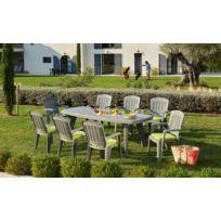 CAPRI - Table rectangulaire extensible - Gris
