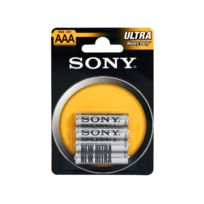 MKT - Pack de 4 piles SONY Zink-Chlorid Ultra R03 Micro AAA
