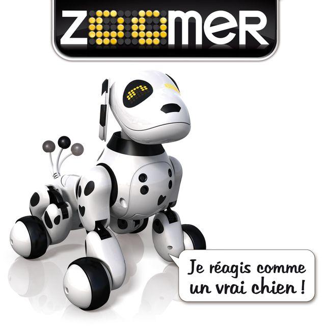 zoomer - chien robot int u00e9ractif dalmatien 2 0 - 6024203   vente jouet