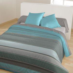 bleu calin couette imprimee 39 crys 39 bleu paon pas cher achat vente couettes rueducommerce. Black Bedroom Furniture Sets. Home Design Ideas