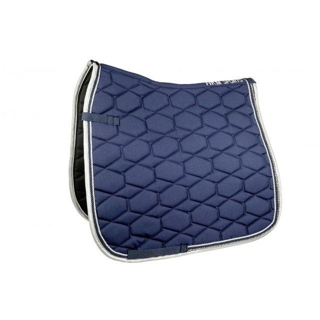 sls tapis crystal fashion bleu marine poney dressage - Tapis Bleu Marine