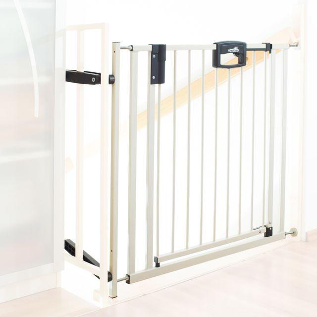 Barrière De Sécurité Easy Lock Metal Blanc Sans Percer 845 925cm