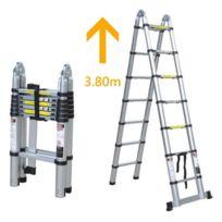 Lbh Tools - Escabeau télescopique avec extension échelle Hauteur max : 3.80m Lbh - Ztj6
