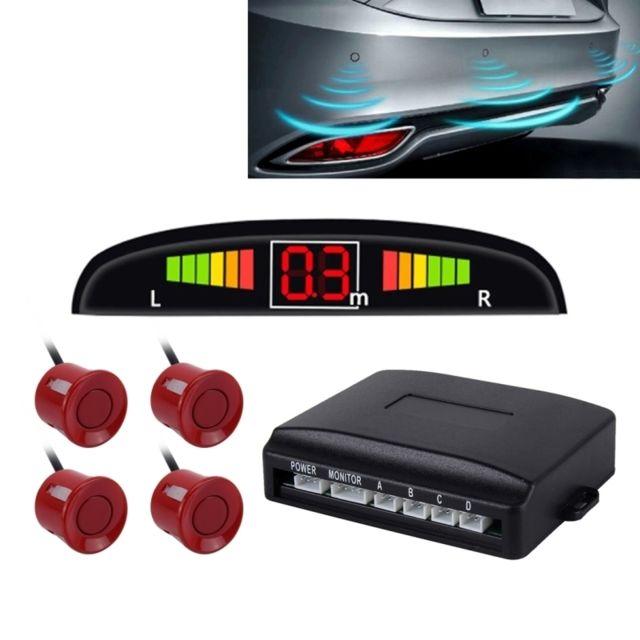 wewoo radar de recul rouge syst me de de invers de voiture buzzer premium quality 4. Black Bedroom Furniture Sets. Home Design Ideas